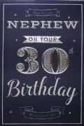 Nephew 30th Birthday Card